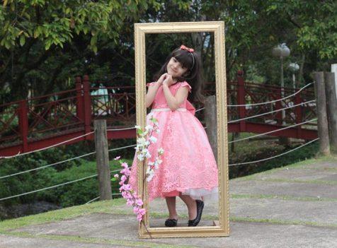 Vestido de festa infantil Diana Demarchi - Rosa